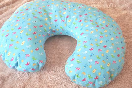 How to make your own nursing pillow. A tutorial and printable breastfeeding pillow pattern.