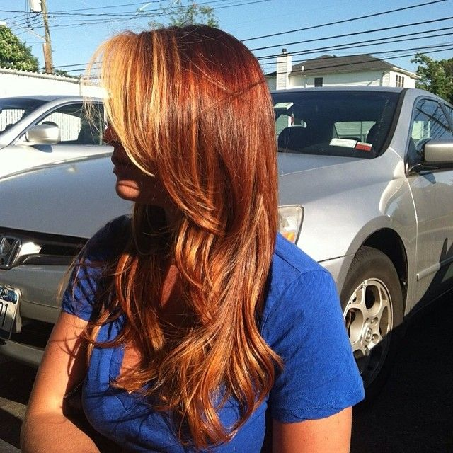 #red #copper #highlights