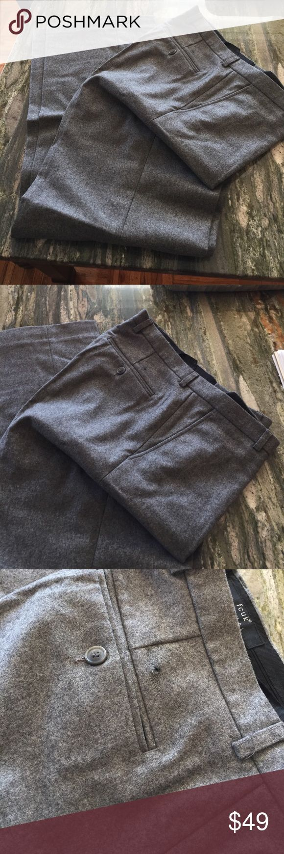 Men's pants Size 34 Wool Made inPoland Mans pants , size 34 Made in Poland 90%virgin wool& 10%cashimire Worn a few times but has a small defect (see photo closer) FOUK Formal Pants Dress