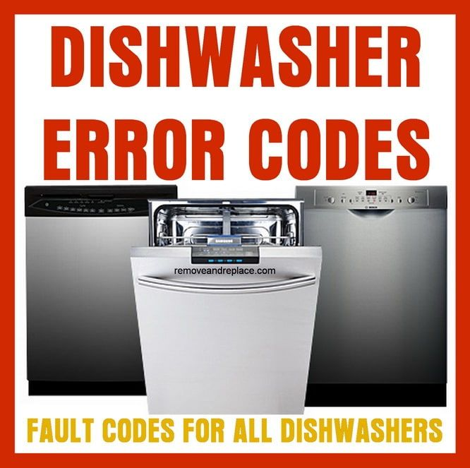 Fault Codes For Dishwasher Repair