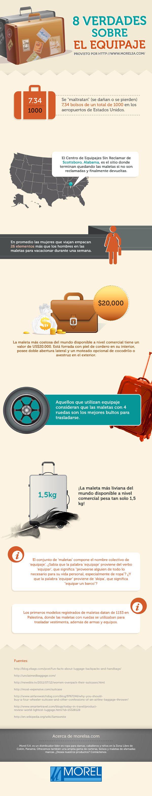 8 verdades sobre el equipaje de viaje - Infografías