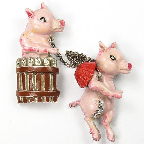 Coro 'This Little Piggy' Pin