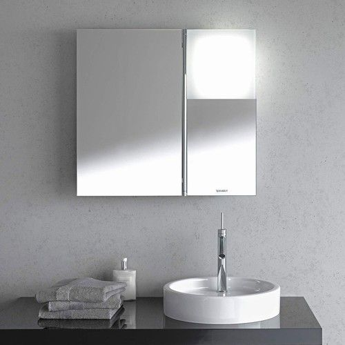 an ingenious solution to traditional medicine cabinets the starck 1 mirror cabinet with lighting is