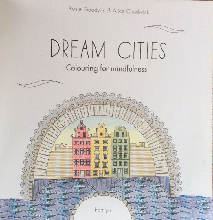 Dream Cities. Title page. Book completed, coloured by Prue.