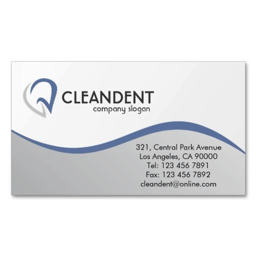 Dental - Business Cards. Make your own business card with this great design. All you need is to add your info to this template. Click the image to try it out!