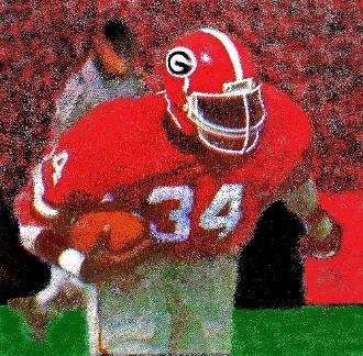 Georgia football gifts! Georgia football art! http://www.shop.47straightposters.com/Georgia-Titan-Herschel-Walker-Georgia-Titan.htm