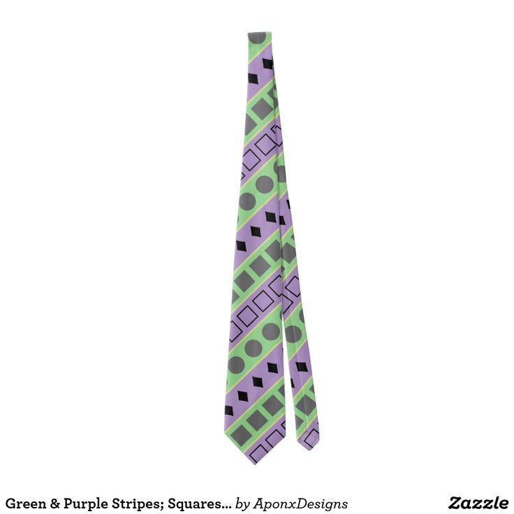Green & Purple Stripes; Squares, Diamonds, Circles