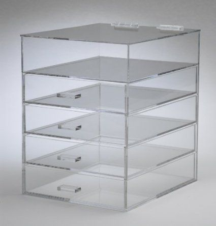 Clear Acrylic Cosmetic U0026 Makeup Organizer With 4 Drawers ...