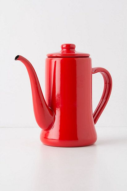 the color of this enamel teapot is kind of making my head explode // noriko enamel teapot // anthro