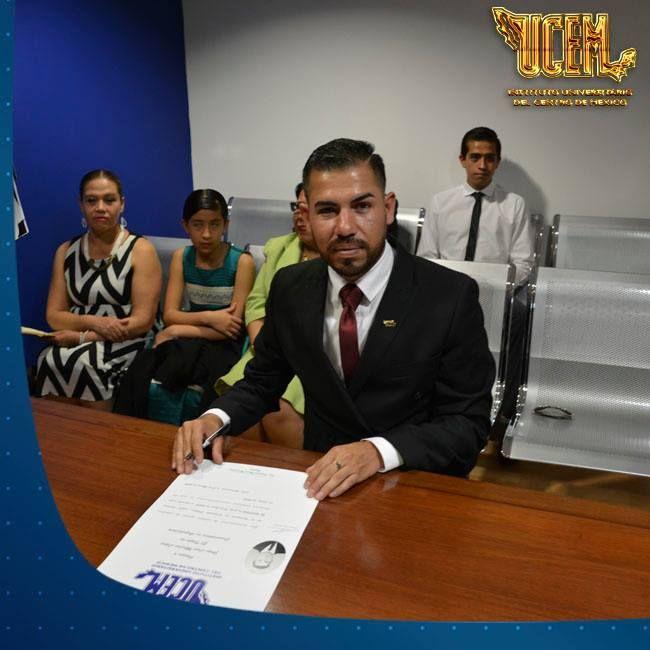 El Instituto Universitario del Centro de México felicita a Jorge Luis Macías López por obtener de manera satisfactoria la Licenciatura en Arquitectura. ¡Estamos seguros que tu carrera profesional será muy exitosa! #OrgulloUCEM #LíderDeSangreAzul
