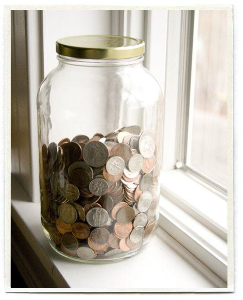 Coleção de moedas. Ou uma poupança.