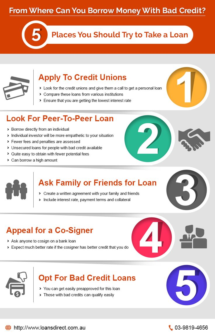 From Where Can You Borrow #Money With Bad #Credit? 5 Places You Should Try to Take a #Loan