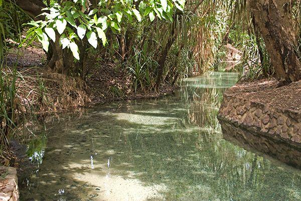 Baden in heißen Quellen in Australien                                                                                                                                                                                 Mehr