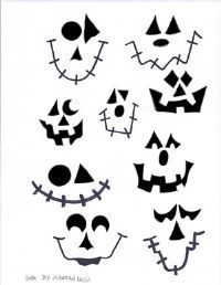 large jack o lantern faces stencil for my pumpkin cans - Halloween Pumpkin Faces Ideas