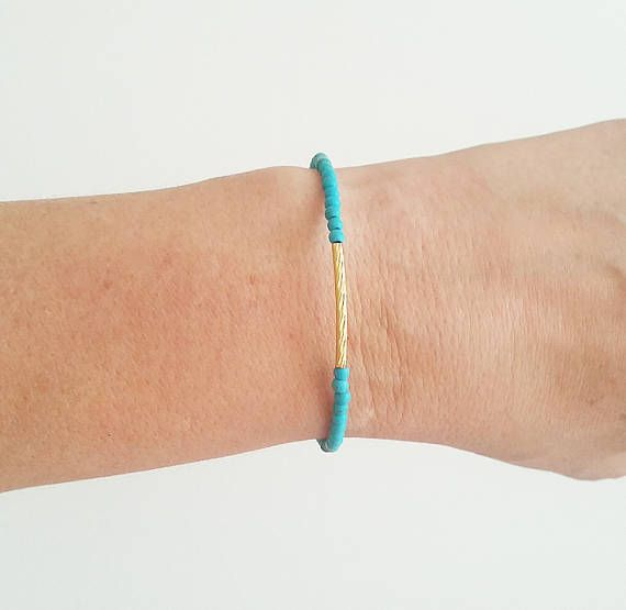 Turquoise Bracelet Tiny Bracelet Friendship Bracelet