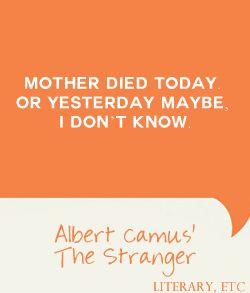 One Liners: Albert Camus' The Stranger