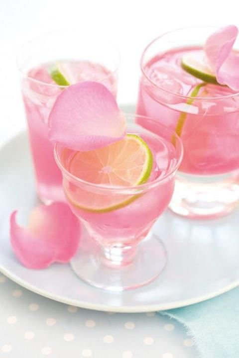 Rose & lime - nice flavor combination
