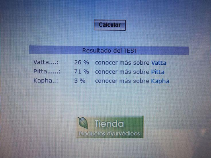 Test doshas 13/2/217 http://www.ayurveda-web.com/testDosha.htm