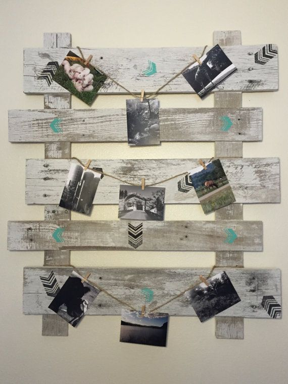Picket fence frame Distressed Old White Picket by CraftedSimplyInc