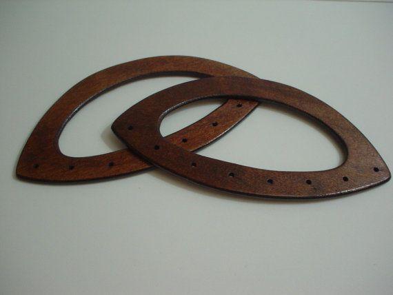 1 pair of wood bag handle handbag by ROYALcraftPT on Etsy