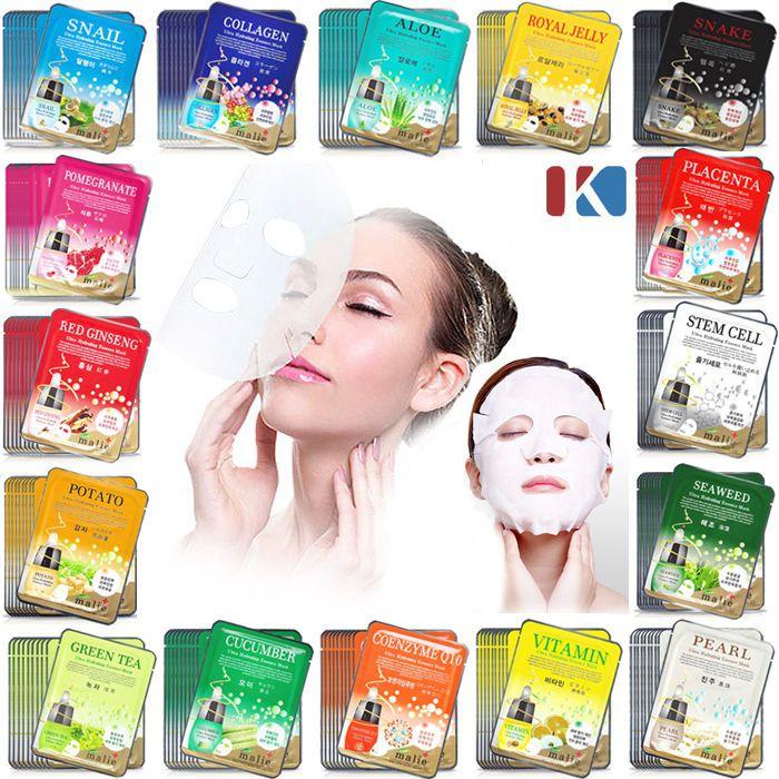 42 PCS Korean Essence Facial Mask Sheet, Moisture Face Mask Pack Skin Care Lots