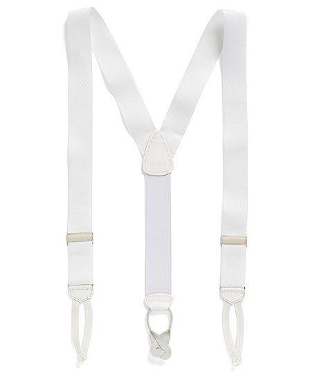 Brooks Brothers - White Suspenders