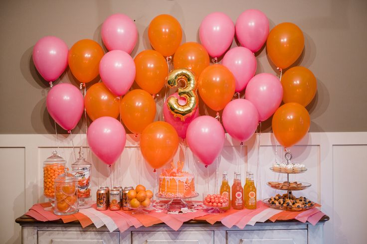 Pink & Orange Birthday Party | The Southern Style Guide