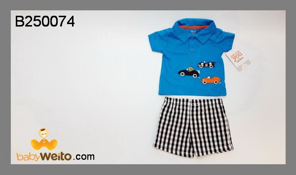 B250074  Baju Setelan Boy Car  Bahan halus dan lembut  Warna sesuai gambar  IDR 120*