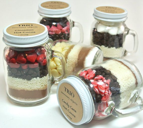 Mason Mug Mocha Hot Chocolate 4 oz Mason Jar by TrioArtisanDesigns