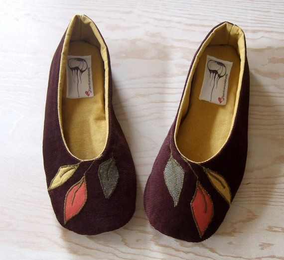 Handmade Organic Vegan Ballet Flat Shoes, by HydraHeart
