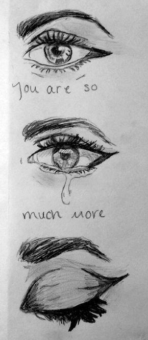 Eyes with tear