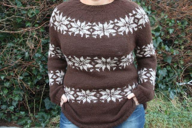 Islnder sweater med link til opskrift