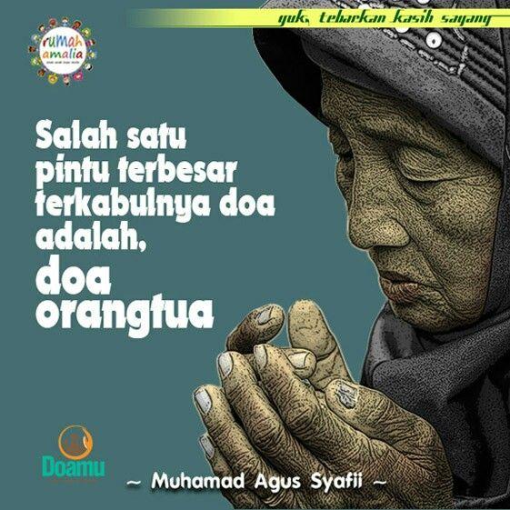 Salah satu pintu terbesar terkabulnya doa adalah, doa orangtua