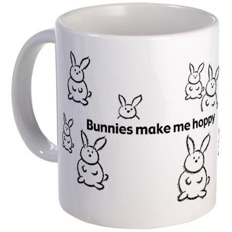 Bunnies Make Me Hoppy Mug