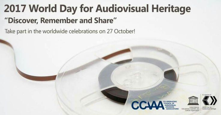 October 27: World Audio Visual Heritage Day. The General Conference of UNESCO approved the commemoration of a World Day for Audiovisual Heritage in 2005 as a mechanism to raise general awareness of the need to preserve and safeguard important audiovisual material for future generations, and for urgent measures to be taken to conserve this heritage and ensure it. #October27 #WorldAudiovisualHeritageDay #UNO #UN #InternationalAudiovisualHeritageDay #UnitedNations #AudiovisualHeritageDay…