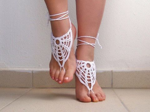 Another selection of our new Barefoot Sandal Collection by Victoriya. These cozy barefoot sandals are like jewelry for your feet! Once size fits all! The Price is outstanding! Handmade and imported from Greece by our newest artisan Victoriya!