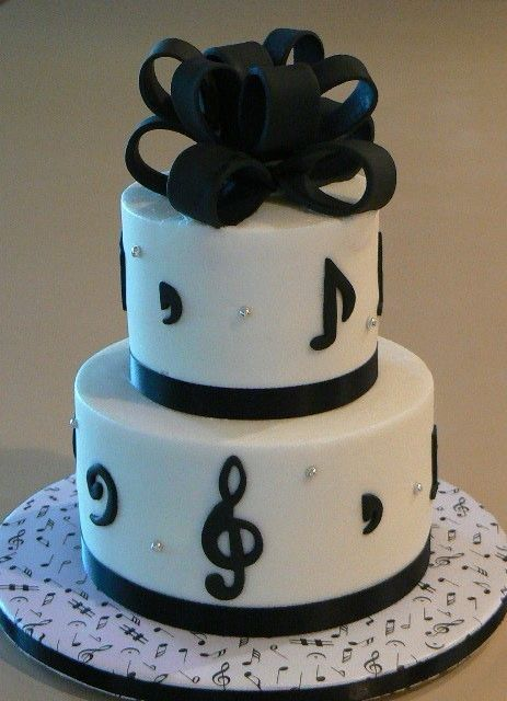 musical inspired cakes Musical-Themed Birthday Cake ...