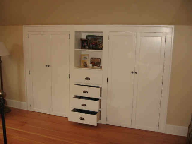 this would be nice for our slanted closet!
