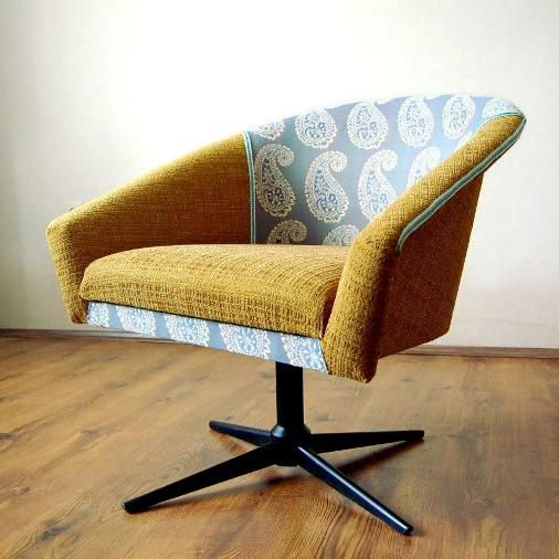 redesigned retro chair, Czechoslovakia design,