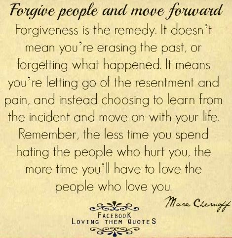 We always talk about forgiveness I'm glad my mom and mother in law have taught…