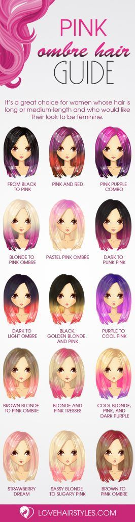 Amazing Pink Ombre Hair Ideas I like the purple to pink