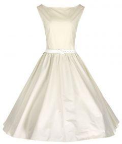 retro svatební šaty rockabilly 50´s 60´s vintage ivory - vampire, gothic, emo, lolita, burlesque, retro, pin-up, shop