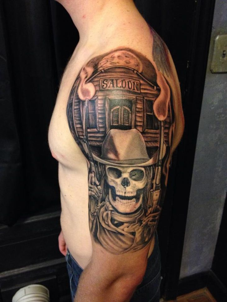 best 25 cowboy tattoos ideas on pinterest. Black Bedroom Furniture Sets. Home Design Ideas