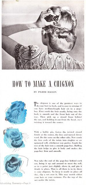 livin vintage: 1944 Hairstyle How To