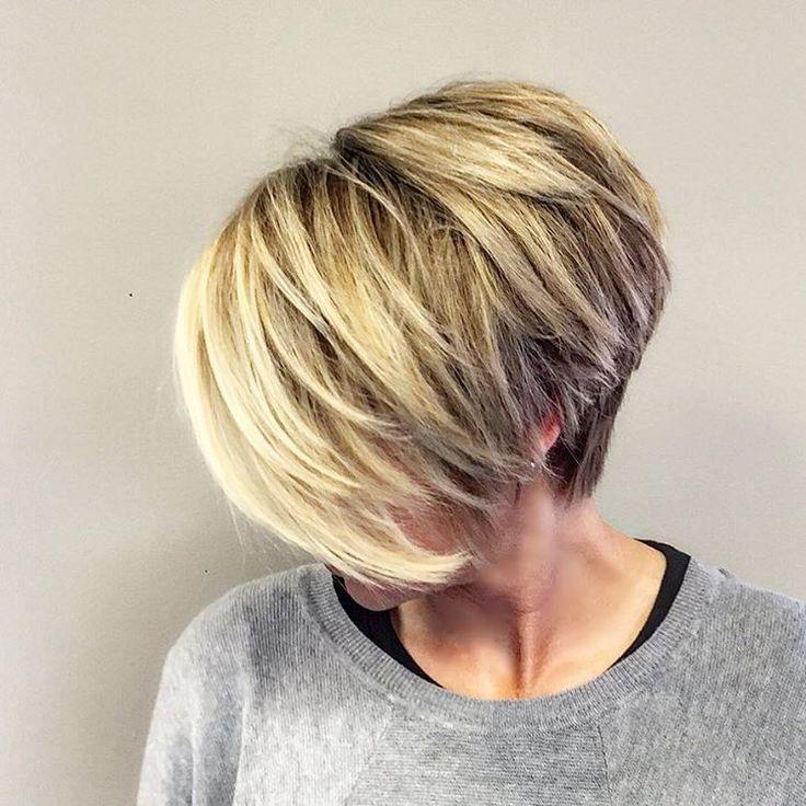 « #hair #haircut #blondehair #shorthair #shorthaircut #blonde #nothingbutpixies #pixie #pixiecut #fringe #balayage #hairpainting #highlights #modernsalon… »