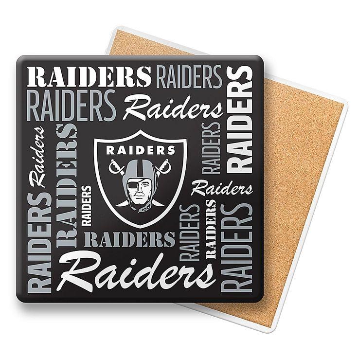 Nfl oakland raiders coasters set of 6 oakland raiders