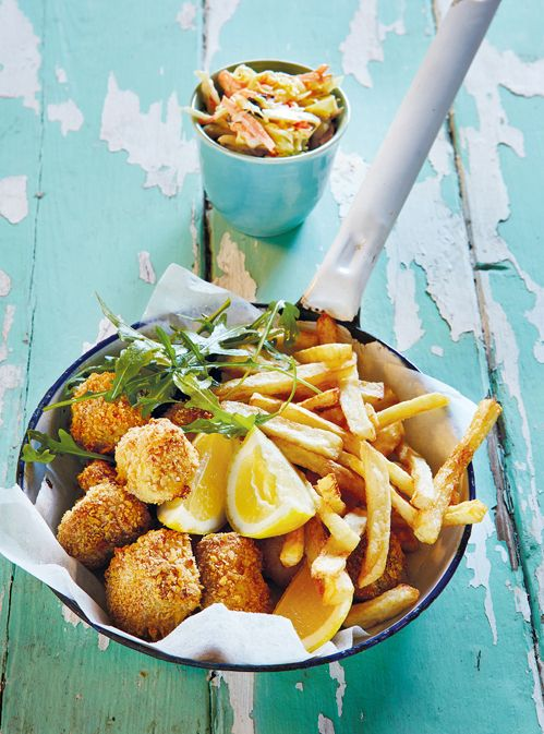 Baked fish nuggets- these are oven baked, much healthier than fried in oil.