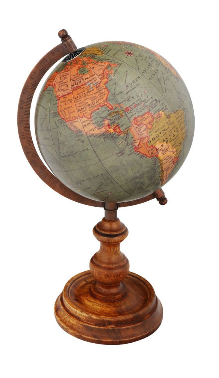 Studio Décor® Viewpoint Heritage Home Globe With Wood Base
