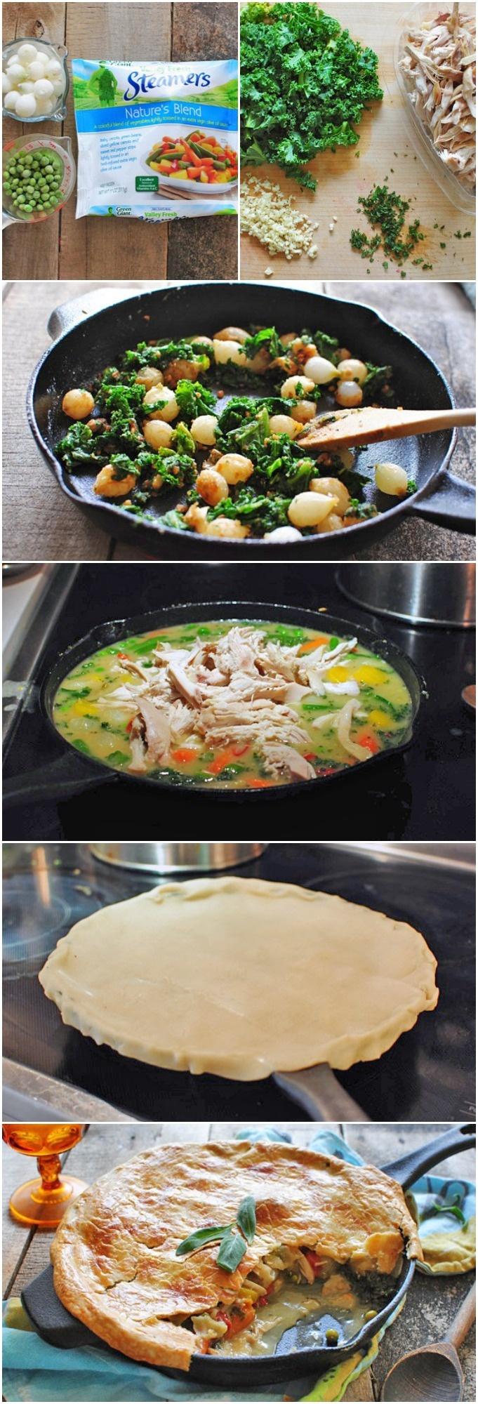 Cast-Iron Skillet Chicken Pot Pie - will skip the chicken or substitute
