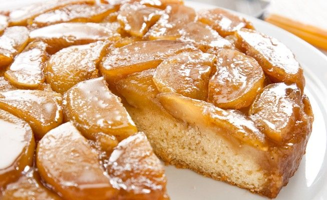 Our Apple Upside-Down Cake makes use of a sturdy quick-bread batter that won't buckle under the weight of luscious, caramelized fruit.